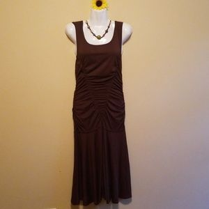 Brown fitted Max Studio Dress